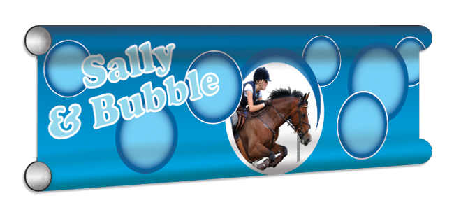 Bubbles Personalised Showjump Banner Filler