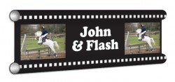 Film Strip Personalised Showjump Banner Filler
