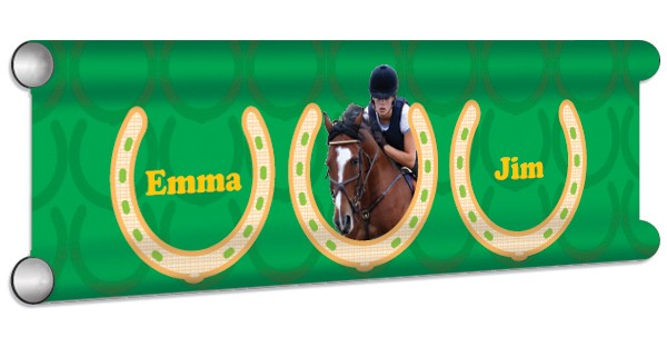 Horse Shoes Personalised Showjump Banner Filler