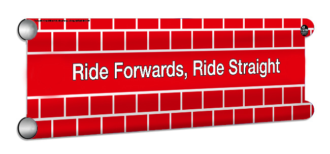 RideForwardsRideStraight Showjump Banner Filler