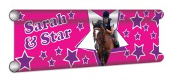 Stars Personalised Showjump Banner Filler