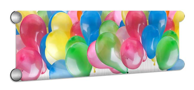Balloons Showjump Banner Filler