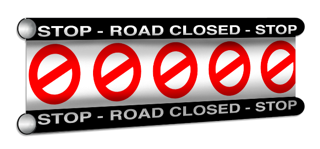 RoadClosed Showjump Banner Filler