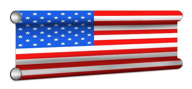 USA Flag Showjump Banner Filler